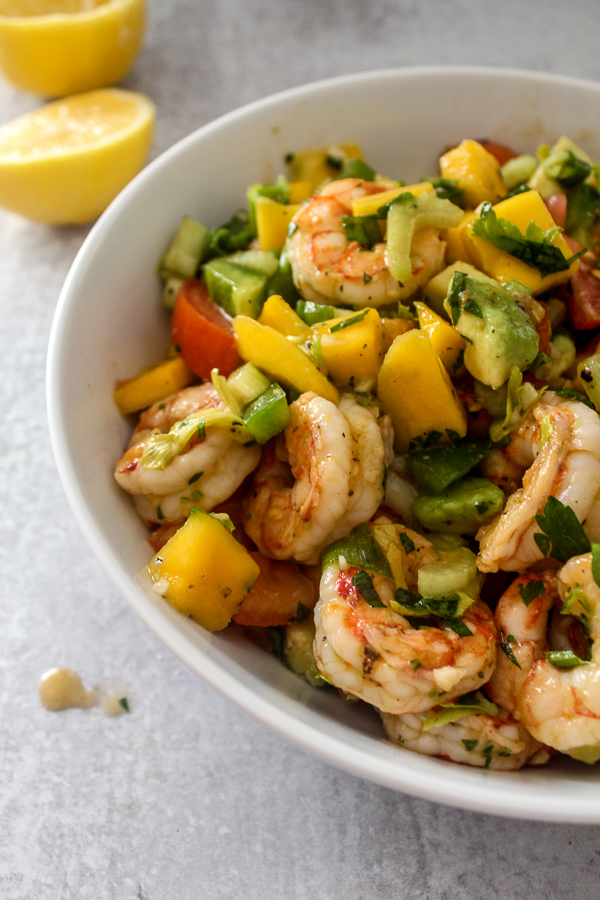 Shrimp Salad With Avocado And Mango Parsley And Icing